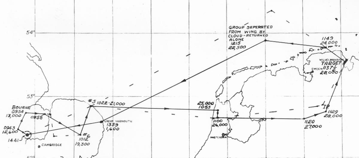 3 Feb 1944 Target Wilhemshaven Germany